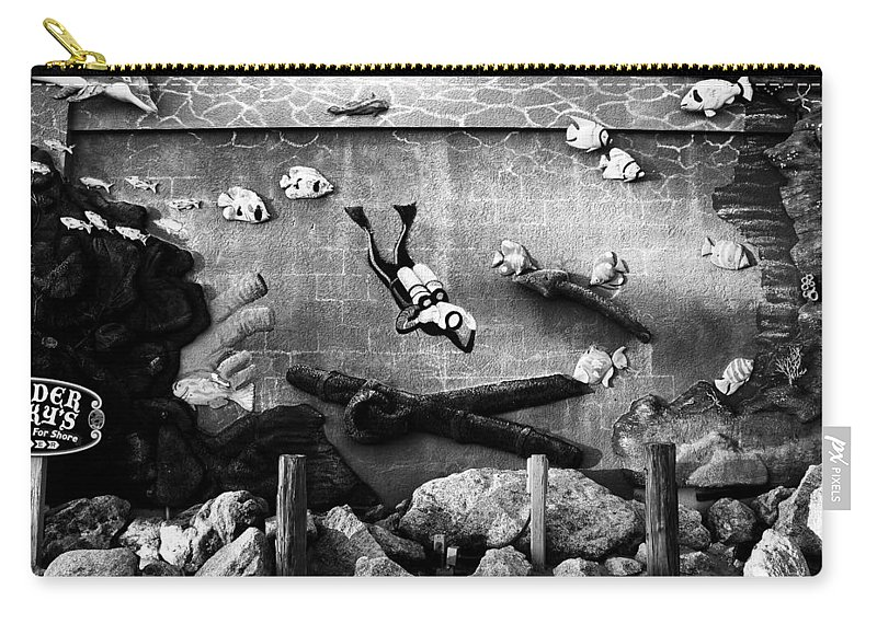 Fine Art Photography Carry-all Pouch featuring the photograph Old Trader Rickys by David Lee Thompson