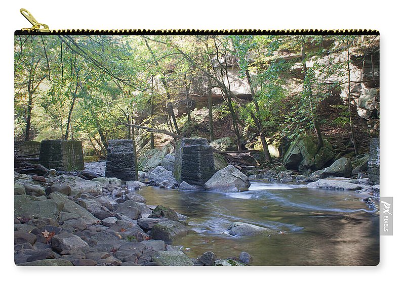 Trestle Carry-all Pouch featuring the photograph Old Train Trestles by David Troxel
