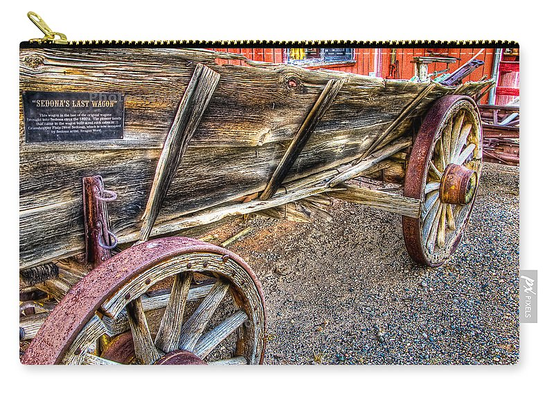 Old Wagon Carry-all Pouch featuring the photograph Old Wagon by Jon Berghoff