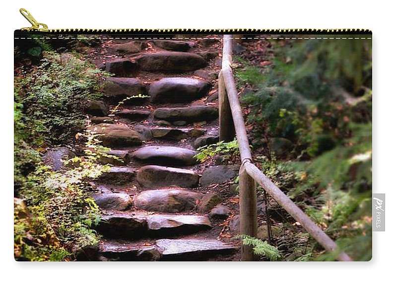Ancient Carry-all Pouch featuring the photograph Old Wet Stone Steps by Henrik Lehnerer