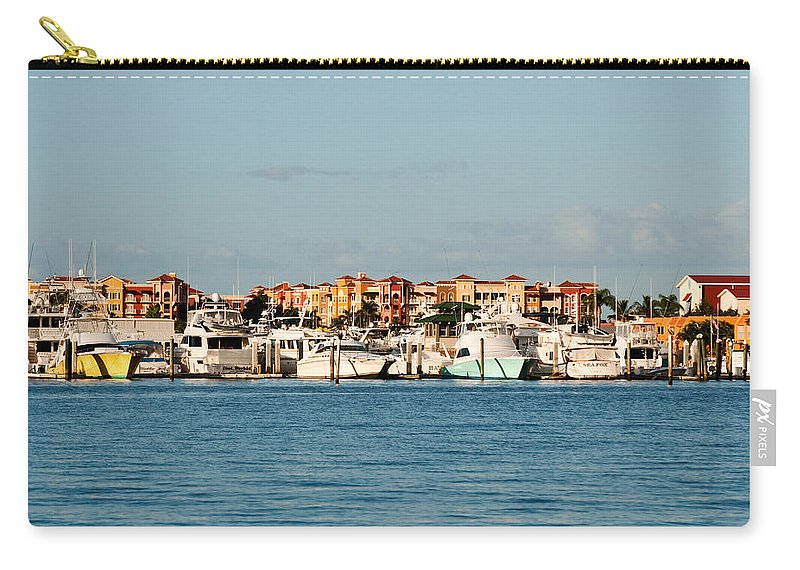 Boats Carry-all Pouch featuring the photograph Olde Naples Seaport by Christine Stonebridge