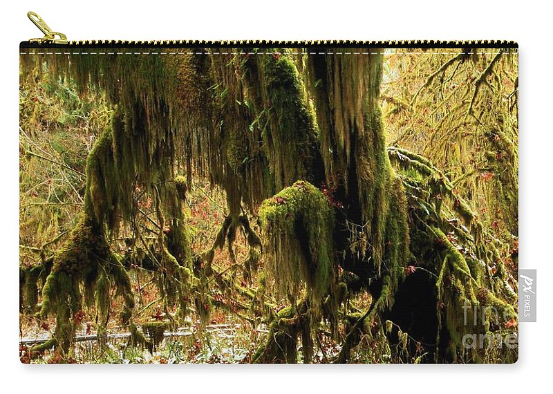 Hoh Rainforest Carry-all Pouch featuring the photograph Olympic Moss by Adam Jewell