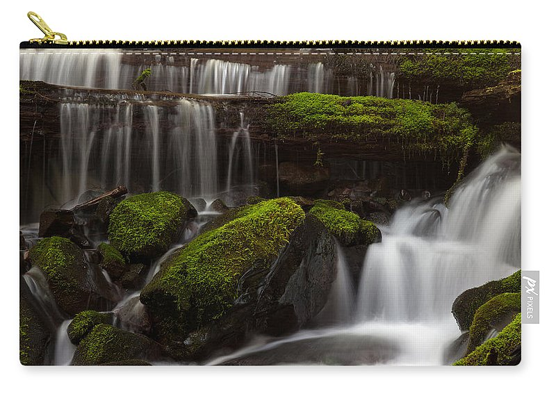 Olympic National Park Carry-all Pouch featuring the photograph Olympics Gentle Stream by Mike Reid