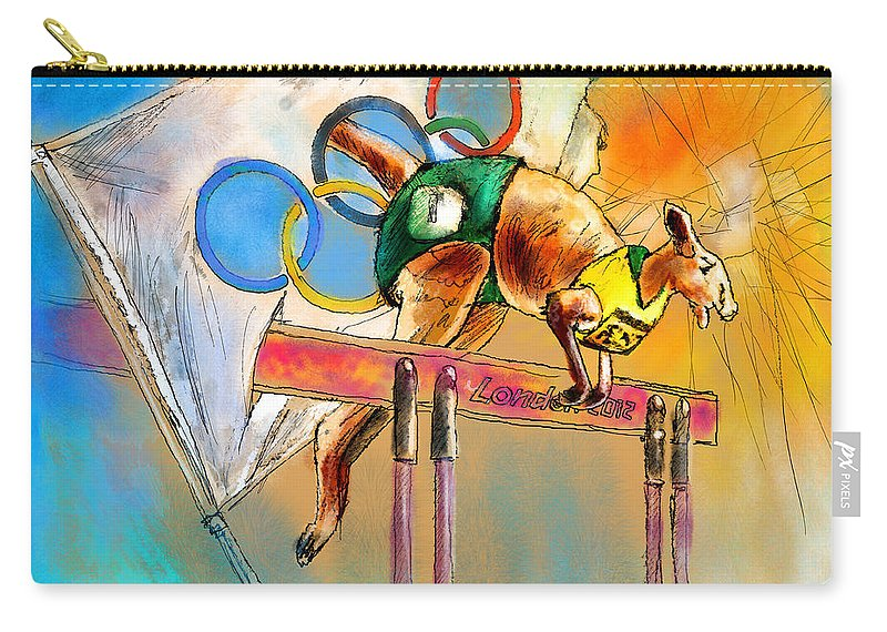 Fun Carry-all Pouch featuring the painting Olyver by Miki De Goodaboom