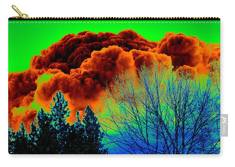 Clouds Carry-all Pouch featuring the photograph Ominous Cloudfront by Ben Upham III