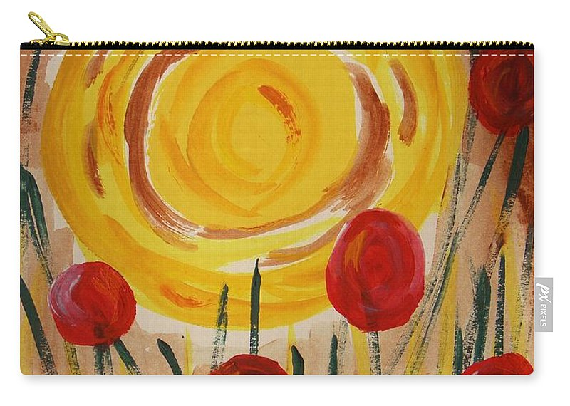 Sun Carry-all Pouch featuring the painting On A Sunny Island by Mary Carol Williams