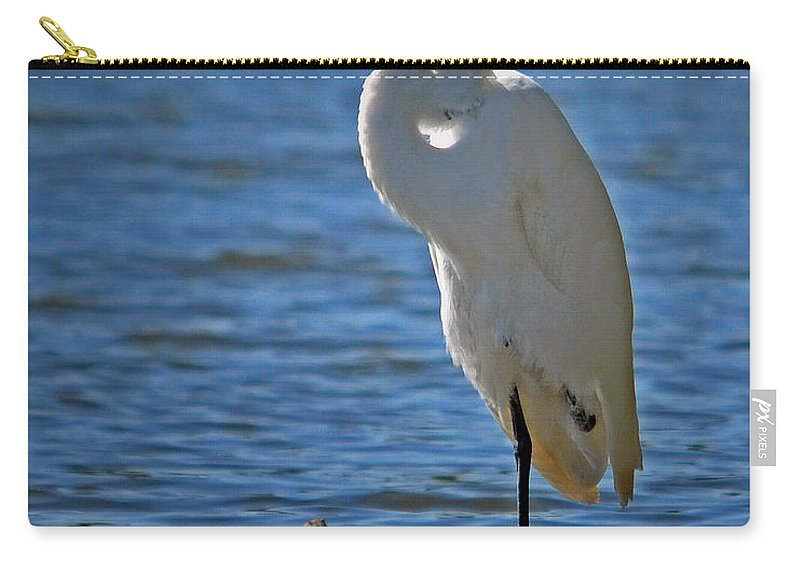 Color Photography Carry-all Pouch featuring the photograph On Break by Sue Stefanowicz