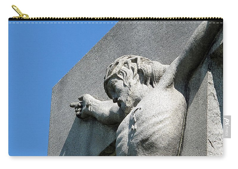 Jesus Carry-all Pouch featuring the photograph On The Cross by Michele Nelson