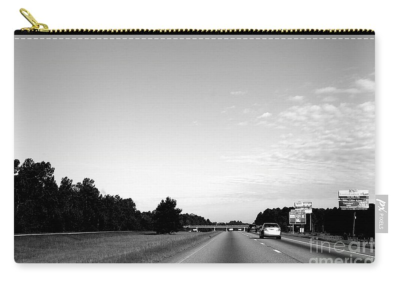 Transportation Carry-all Pouch featuring the photograph On The Road by Samantha Glaze