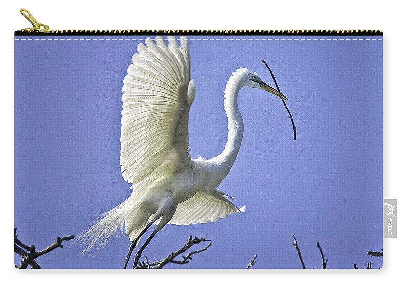 Bird Carry-all Pouch featuring the photograph On The Wing by Fran Gallogly