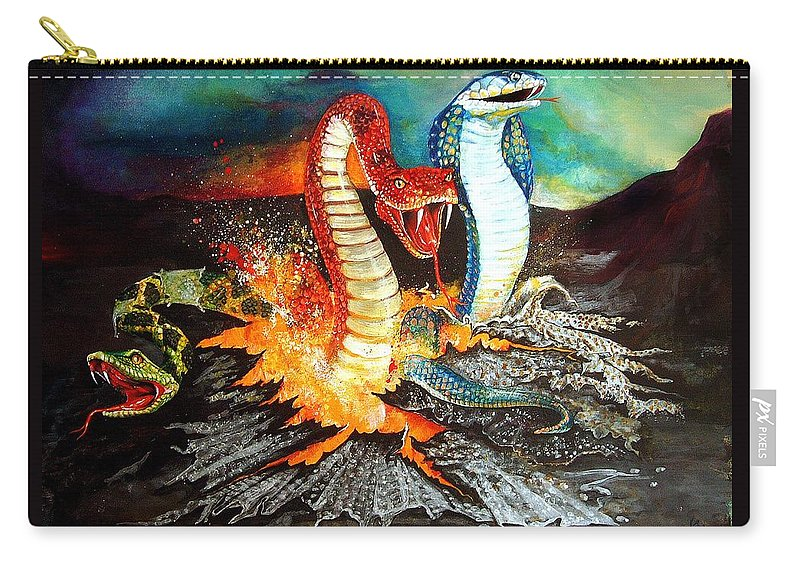 Fantasy Carry-all Pouch featuring the painting Once Bitten by Penny Golledge