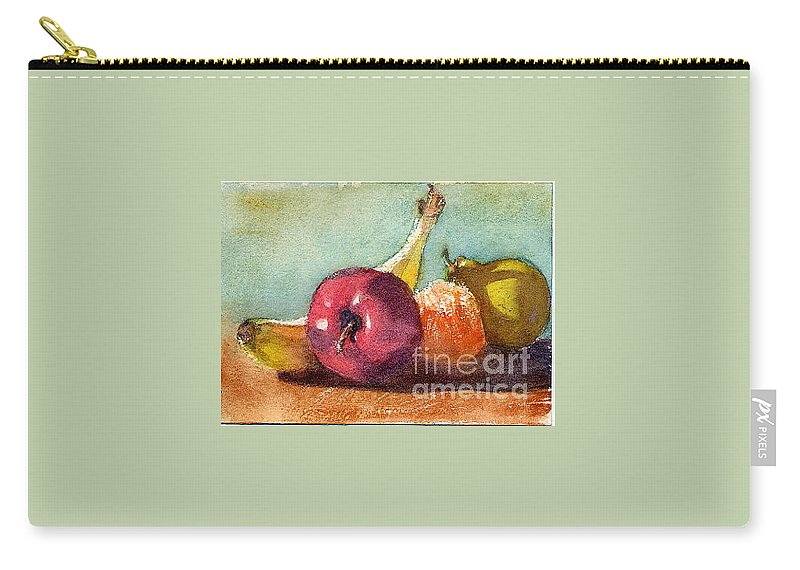 Carry-all Pouch featuring the painting One A Day by Mohamed Hirji
