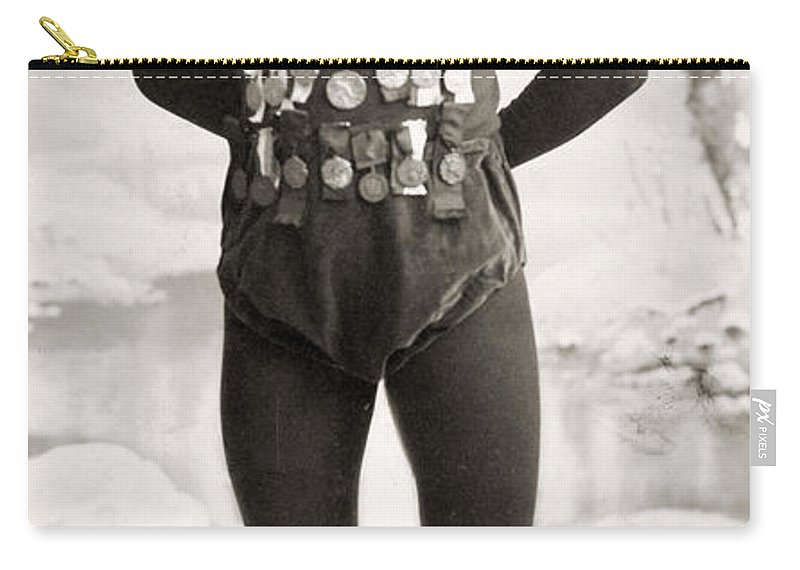 1900 Carry-all Pouch featuring the photograph One E. Lamy, C1900 by Granger