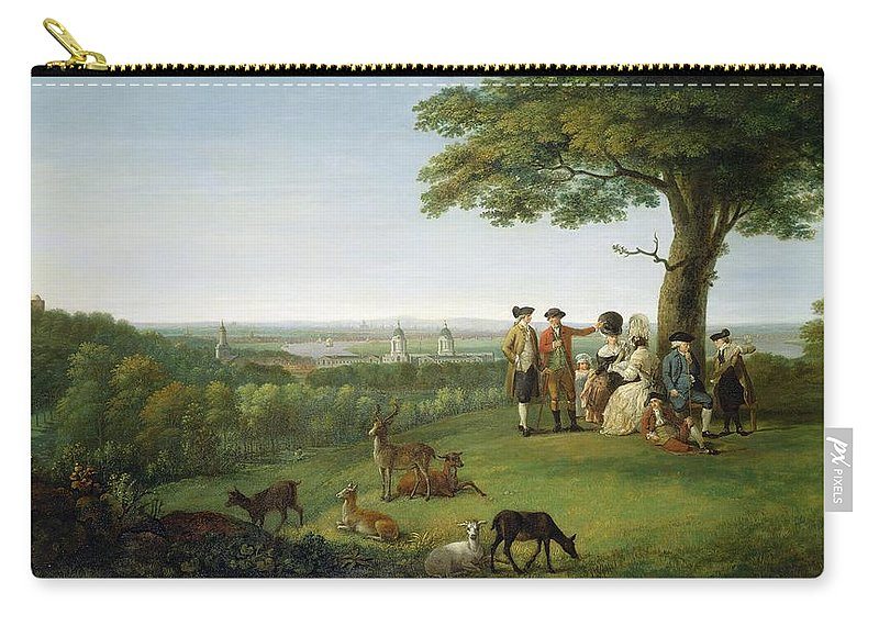 Xyc306183 Carry-all Pouch featuring the photograph One Tree Hill - Greenwich by John Feary