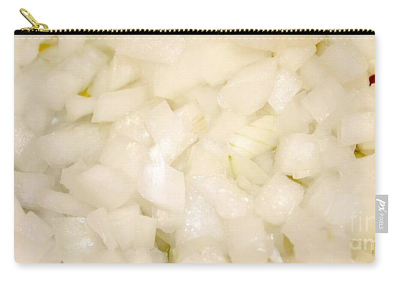 Chopped Carry-all Pouch featuring the photograph Onions by Henrik Lehnerer