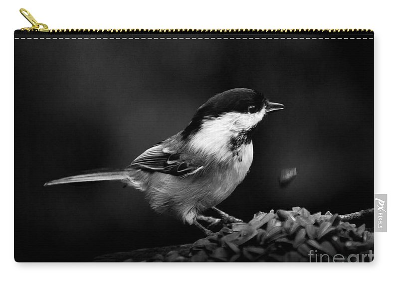 Chickadee Carry-all Pouch featuring the photograph Oops by Cheryl Baxter