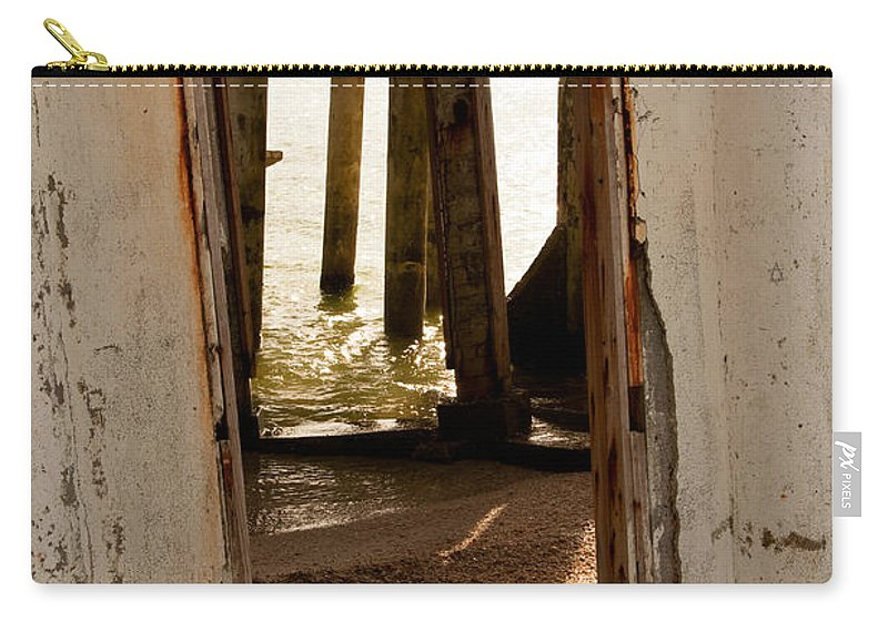 Doorway Carry-all Pouch featuring the photograph Open Door Policy by Christine Stonebridge