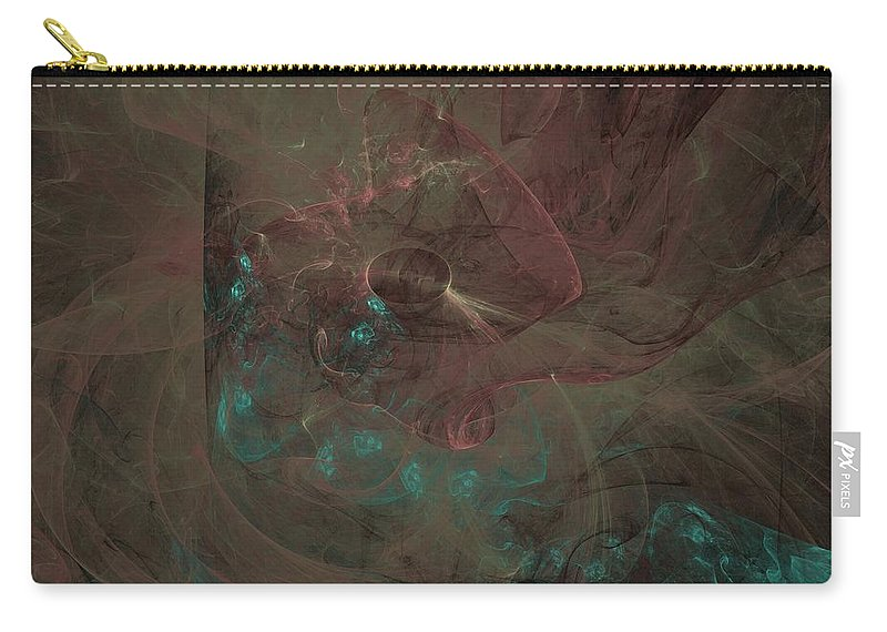 Digital Art Carry-all Pouch featuring the digital art Open Your Eyes by Christy Leigh
