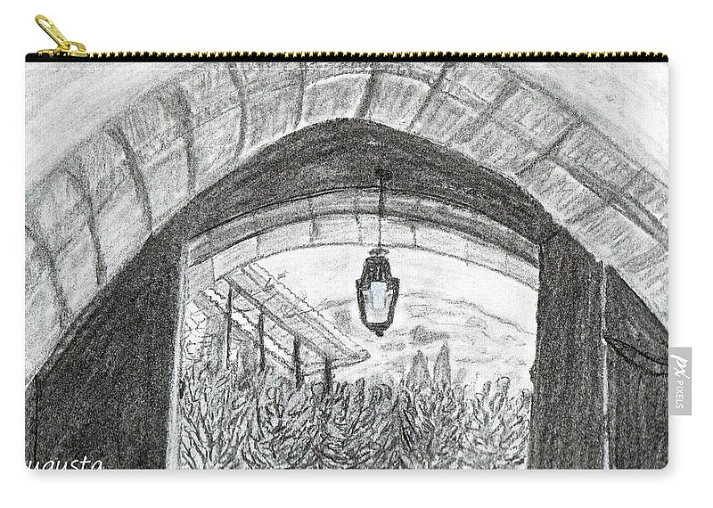 Arch Carry-all Pouch featuring the drawing Opening Door To Light by Augusta Stylianou