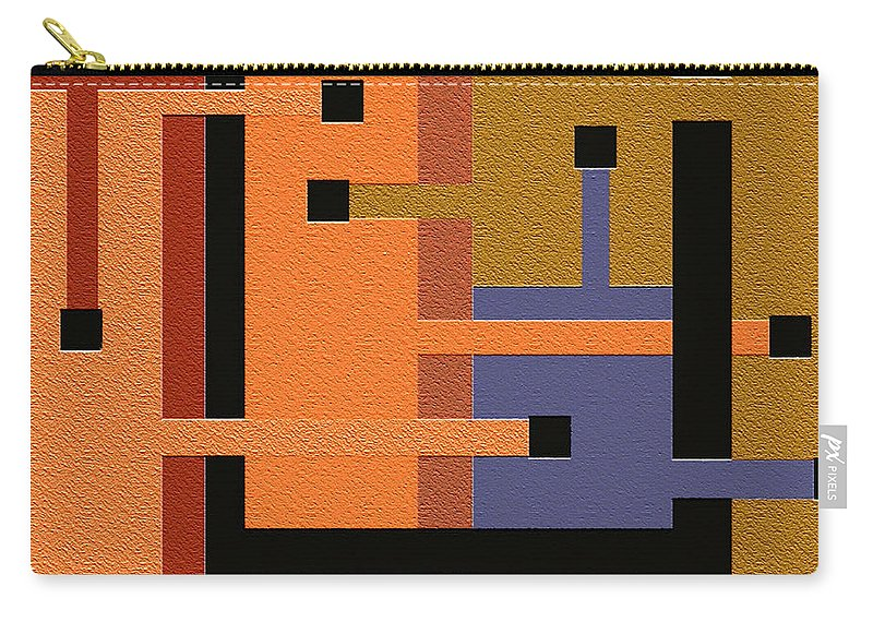 Abstract Art Carry-all Pouch featuring the digital art Opinions by Ely Arsha