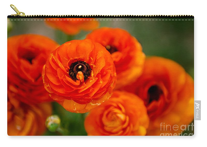 Flower Carry-all Pouch featuring the photograph Orange Bulbs by Syed Aqueel