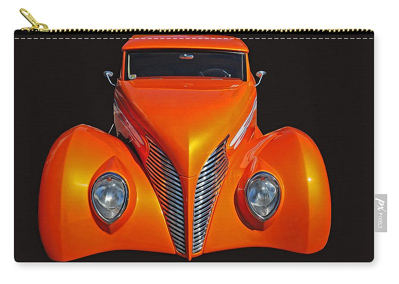 Car Carry-all Pouch featuring the photograph Orange by Dave Mills