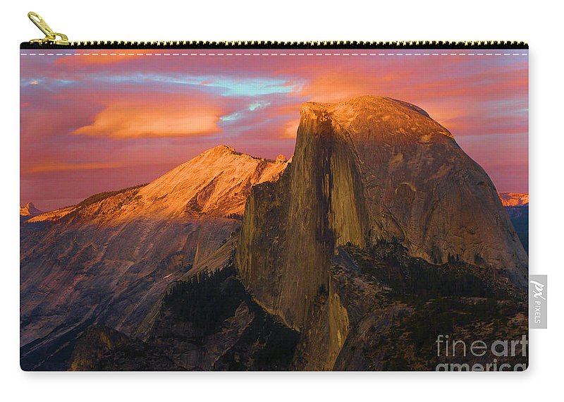 Half Dome Carry-all Pouch featuring the photograph Orange Half Dome by Adam Jewell