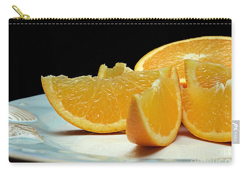 Andee Design Orange Carry-all Pouch featuring the photograph Orange Slices by Andee Design