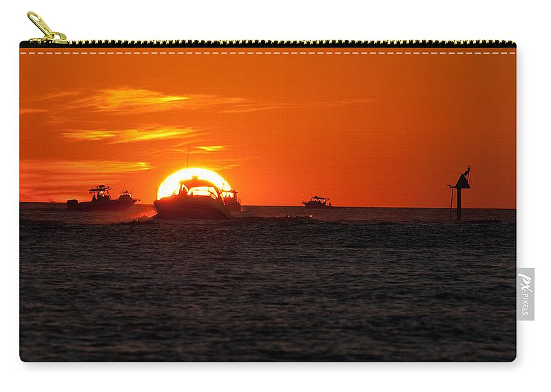 Sunset Carry-all Pouch featuring the photograph Orange Sunset IIi by Christine Stonebridge