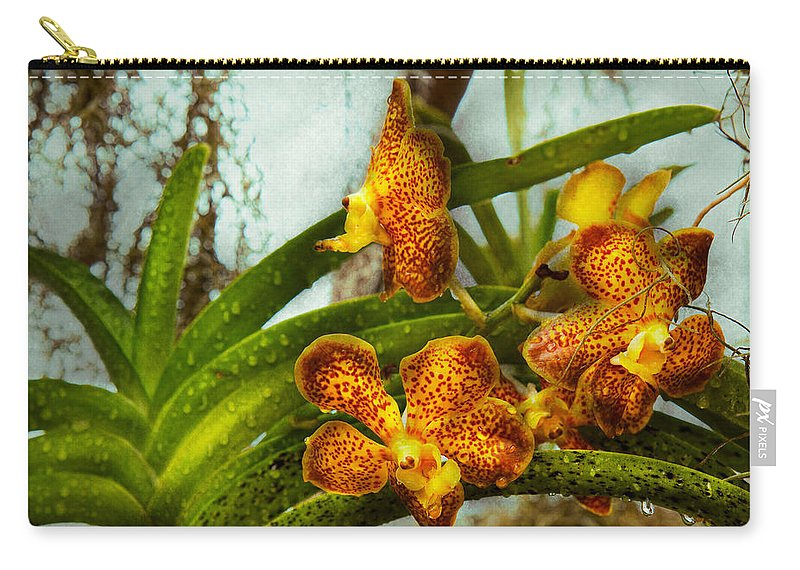 Orchid Carry-all Pouch featuring the photograph Orchid - Oncidium - Ripened  by Mike Savad