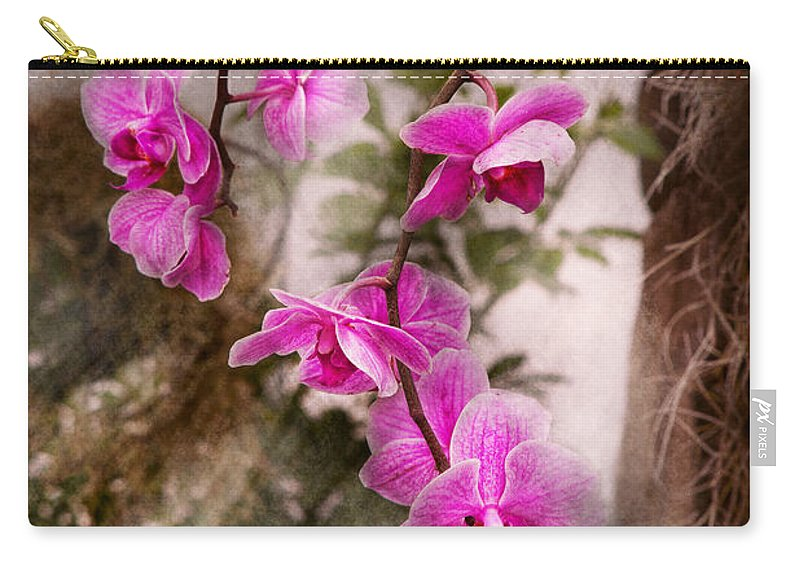 Orchid Carry-all Pouch featuring the photograph Orchid - Tropical Passion by Mike Savad
