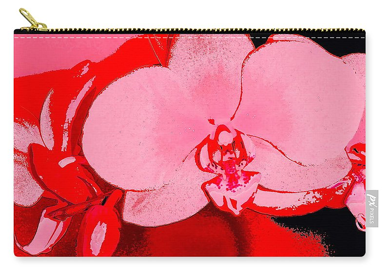 Floral Carry-all Pouch featuring the photograph Orchid 3 by Pamela Cooper