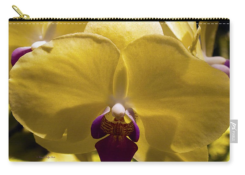 Fine Art Photography Carry-all Pouch featuring the photograph Orchid Study Vi by Patricia Griffin Brett