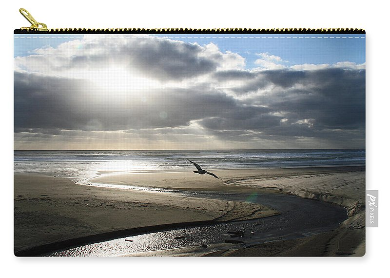 Oregon Carry-all Pouch featuring the photograph Oregon Coast by Elizabeth Rose