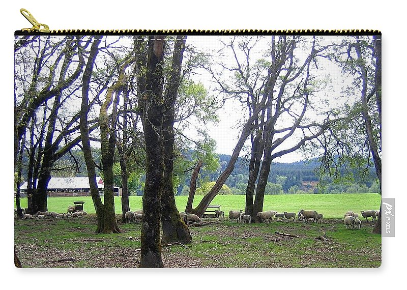 Oregon Carry-all Pouch featuring the photograph Oregon Sheep Farm by Will Borden