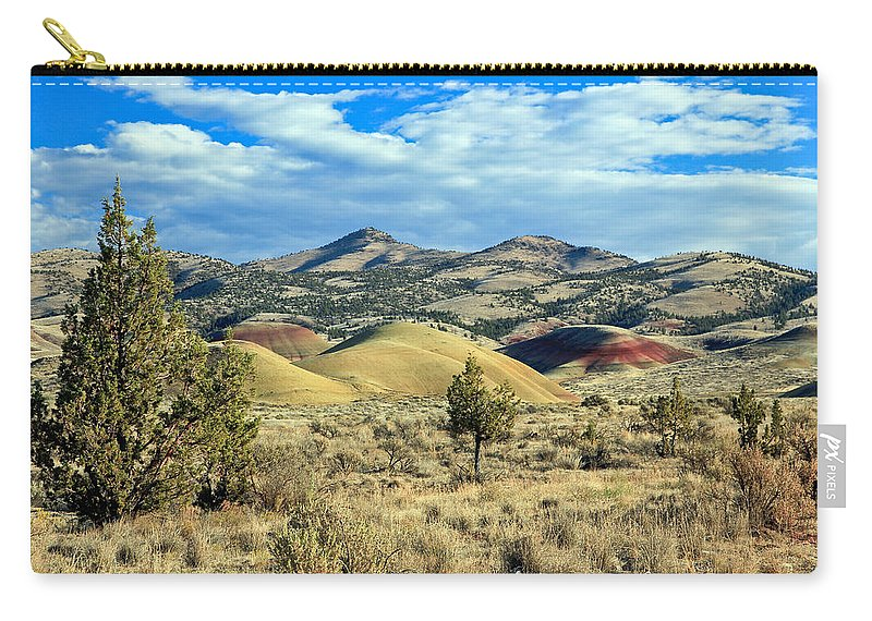 Painted Hills In Oregon Carry-all Pouch featuring the photograph Oregons Painted Hills by Athena Mckinzie