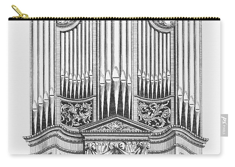1760 Carry-all Pouch featuring the photograph Organ, 1760 by Granger