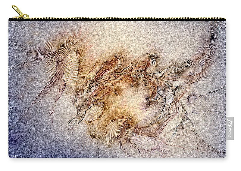 Abstract Carry-all Pouch featuring the digital art Orthography Of The Chant by Casey Kotas