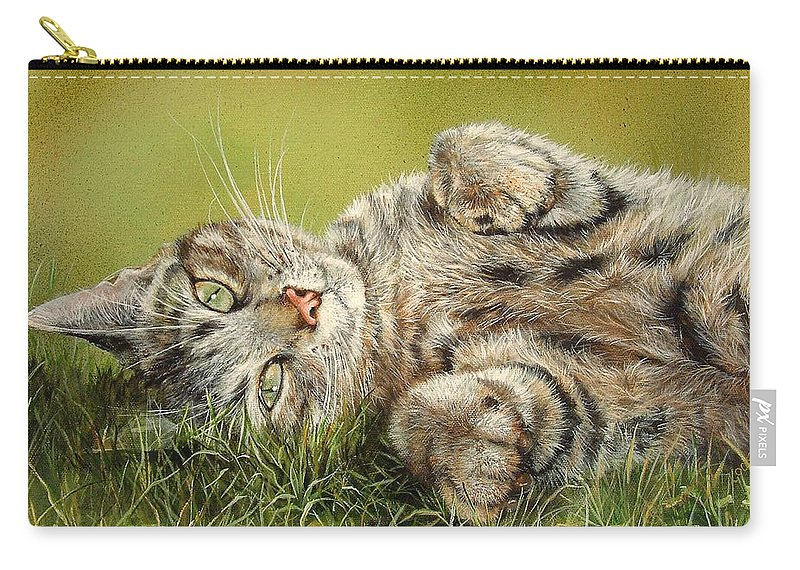Mammal Carry-all Pouch featuring the painting Oscar by Penny Golledge