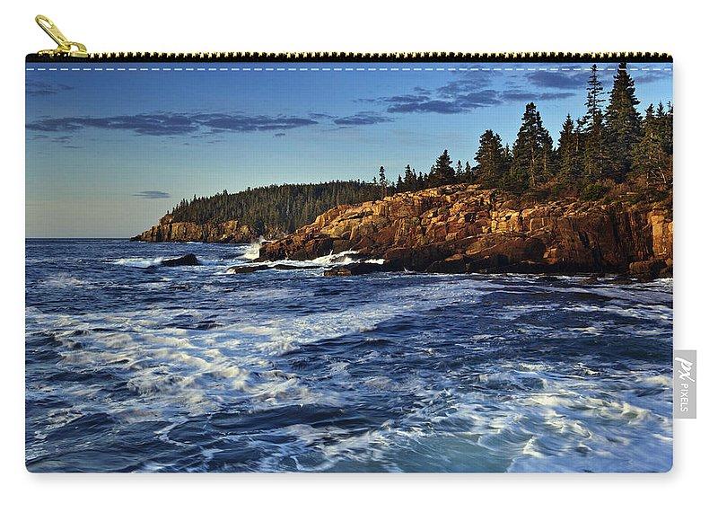 Otter Cliffs Carry-all Pouch featuring the photograph Otter Cliffs by Rick Berk