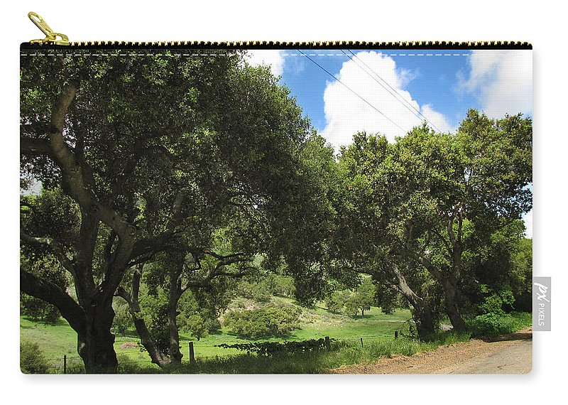 Back Road Carry-all Pouch featuring the photograph Out On A Country Road by Kathleen Grace