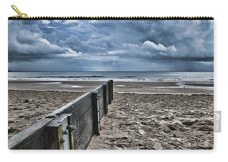 Groyne Carry-all Pouch featuring the photograph Out To Sea by Steve Purnell