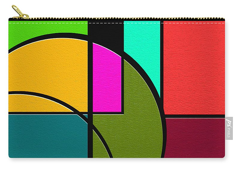 Abstract Art Carry-all Pouch featuring the painting Outs by Ely Arsha
