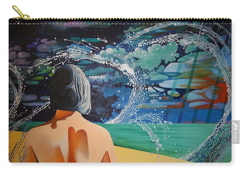 Surreal Carry-all Pouch featuring the painting Over Looking The Bay Of Cadiz by John Creech