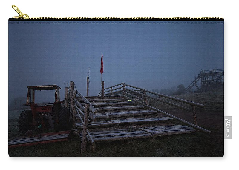 Sunrise Carry-all Pouch featuring the photograph Over The Bridge by Dawn OConnor