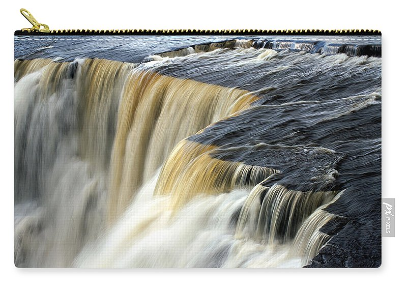 Waterfall Carry-all Pouch featuring the photograph Over The Edge by Bill Morgenstern
