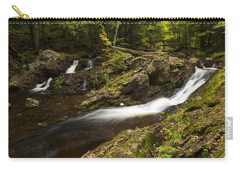 Overlook Carry-all Pouch featuring the photograph Overlook Falls 1 by John Brueske