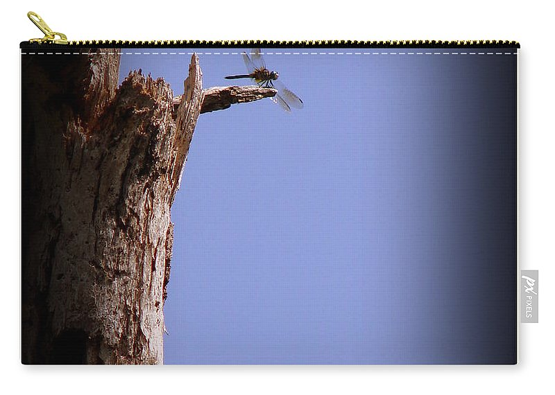 Dragonfly Carry-all Pouch featuring the photograph Overlook by Priscilla Richardson