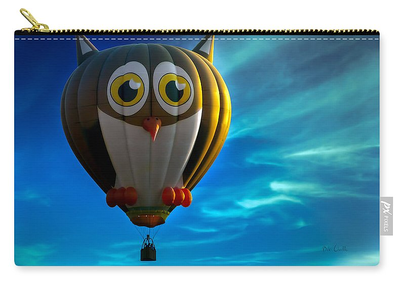 Owl Carry-all Pouch featuring the photograph Owl Hot Air Balloon by Bob Orsillo