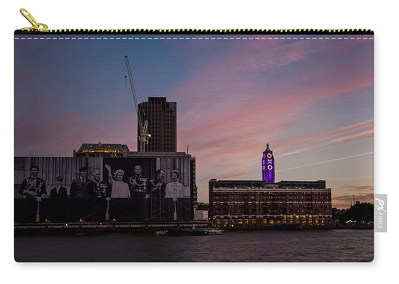 Oxo Tower Carry-all Pouch featuring the photograph Oxo Tower And Royal Family by Dawn OConnor